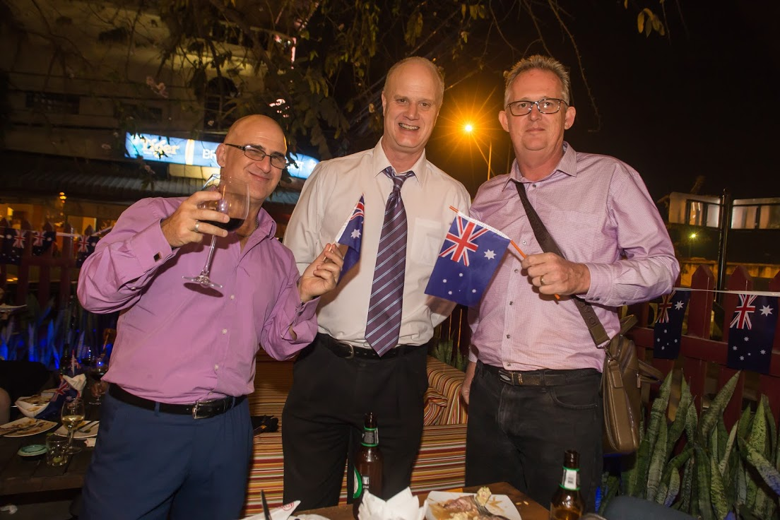 Auscham members celebrating Australia Day
